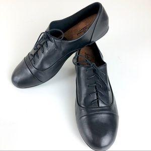 Lucky Brand Davie Black Leather Oxfords Size 10